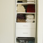 Organised linen cupboards